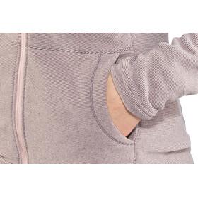 The North Face W's Mezzaluna Full Zip Hoodie Rabbit Grey Stripe